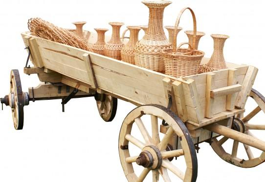Изготовление телеги из дерева для лошади
